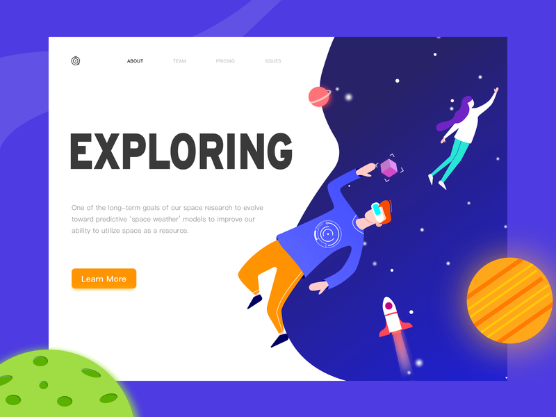 web design vr rockets astranaut space website web design web design