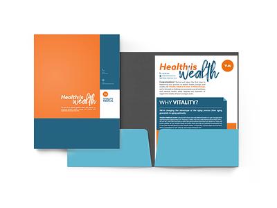 Vitality Medical Folder and Info Sheet Design print design folder design tagline medical logodesign graphic design logo branding graphicdesigner graphicdesign email design medical design