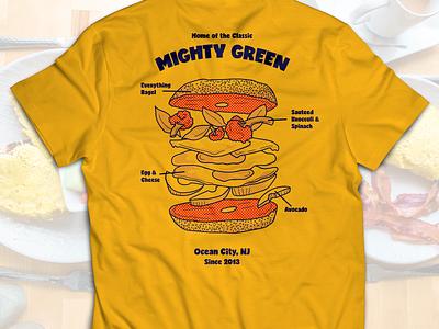 Breakfast Sandwich Illustration marketing vector food and drink illustration restaurant foodie food