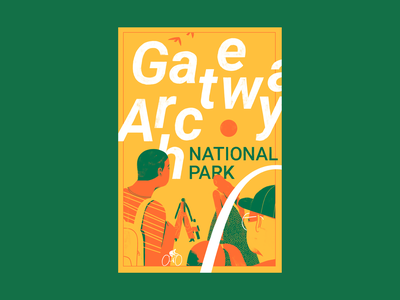 Type Hike - Gateway Arch typehike poster illustration