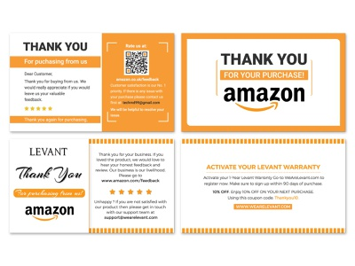 amazon thank you card product insert product design product card branding product minimal logo graphic design gradient ecommerce design custom creative corporate design clean card design business card design business amazon thank you card amazon fba seller