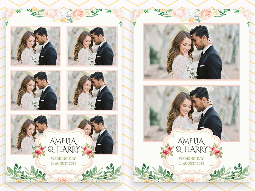 Custom Photo Booth Template Design for Wedding by Sayed