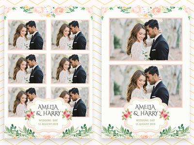 Custom Photo Booth Template Design for Wedding
