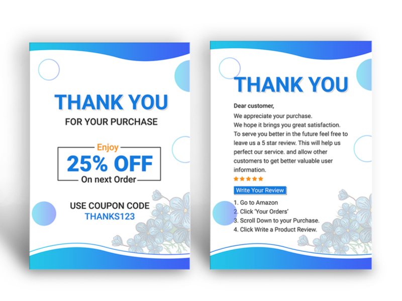 Thank You Card Design Product