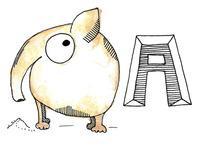 Animal Alphabet A - Anteater