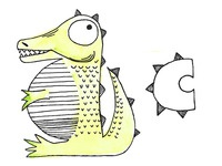 C is for Crikey the Crocodile