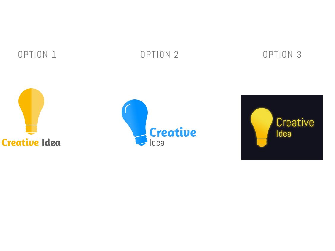 Creative Idea | Logo Design typography illustration flat branding logo design logo design challenge logo design concept logo