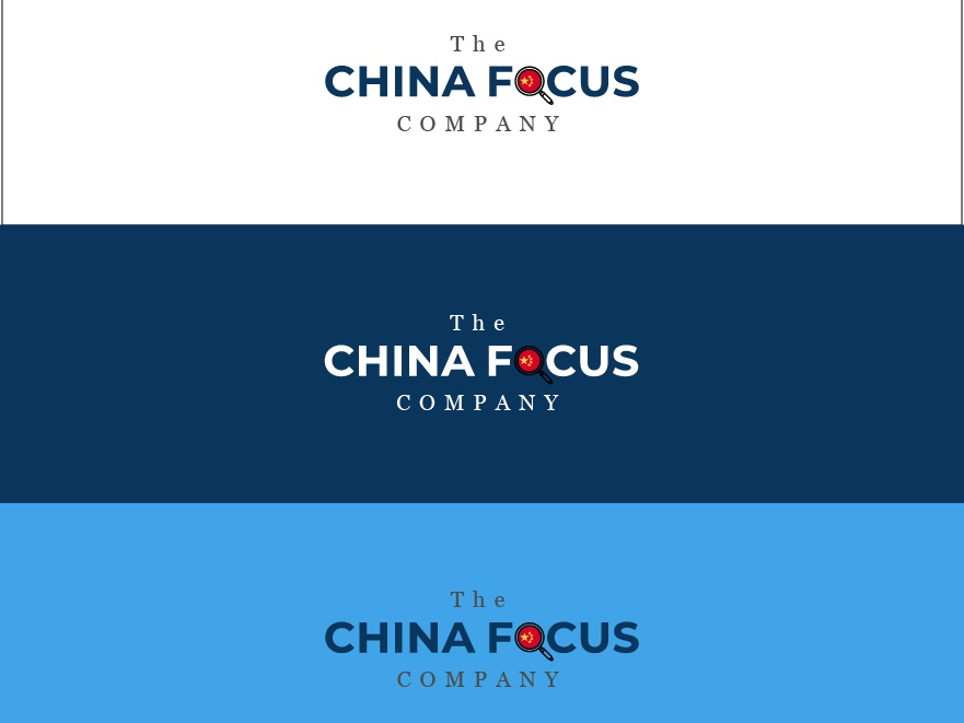 The China Focus Company icon vector illustration typography logo design concept logo design challenge logo design flat design logo branding