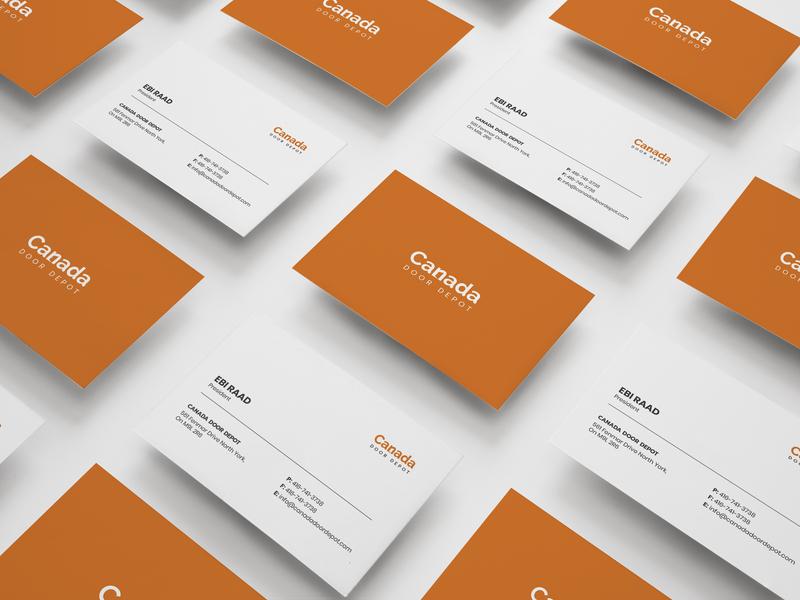 Canada Door Depot | Business Card Design design graphic design mockup business card flat logo design concept branding business card design