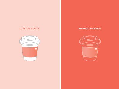 coffee sketches puns cute greeting card starbucks coffee