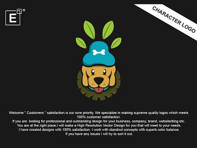 Dog Tribe Logo illustration fullcolor bold character playful logo