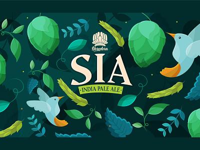 IPA Label can label bird hummingbird hop beer label ipa beer can beer design illustrator flat kawaii vector cute illustration