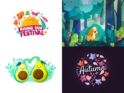Top Shots 2018 icon logo design japan illustrator branding dog love flat kawaii vector cute illustration