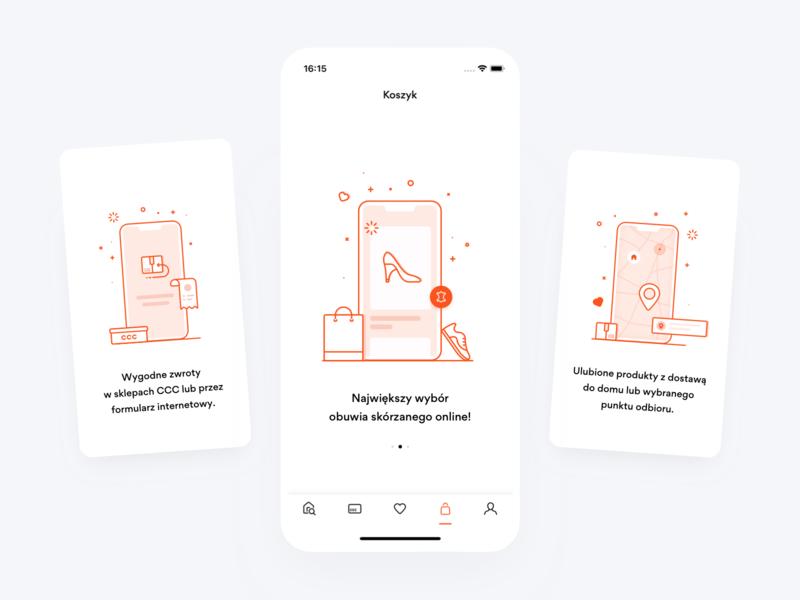 CCC Shoes & Bags Illustrations retail e-commerce ecommerce vector artwork art illustraion branding mobile app icon design ux ui