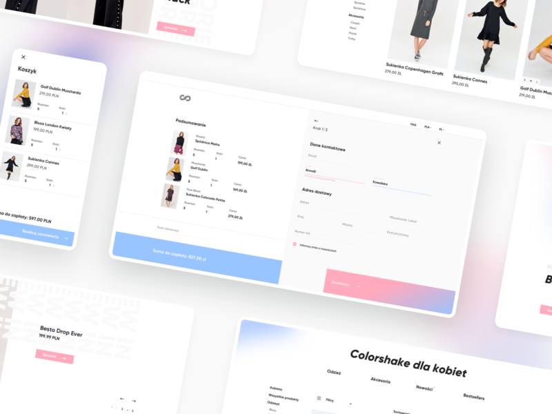 Colorshake E-commerce Fashion Shop shopify fashion mobile design web design web shop e-comerce ecommerce design ux ui