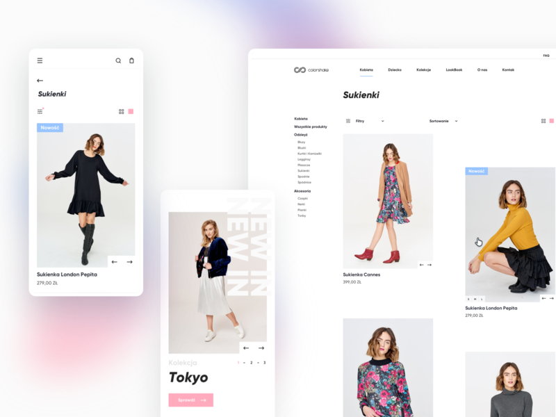 Colorshake E-commerce Fashion Shop Part 2 web ecommerce design fashion shopify shop ux webdesign web ui ui website ecommerce