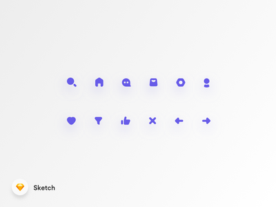 Freebie Basic Rounded Icon Set e-commerce like filter love profile settings home search icon rounded simple freebie