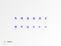 Freebie Basic Rounded Icon Set