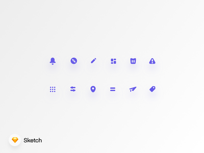 Rounded Icon Set Vol.2 discover map ui rounded warning trash notification home freebie design filter icon