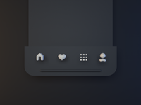 Tab Bar Rounded 3D Icons