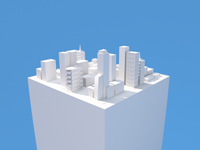 Mini Town Low Poly