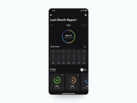 🌚Budget Tracking App - Expenses Report