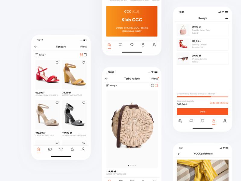 CCC Shoes & Bags Mobile App branding commerce e-commerce retail store shop ecommerce app ecommerce mobile app design ux ui