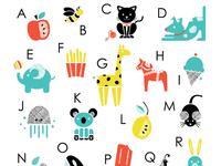 Alphabet Screenprint
