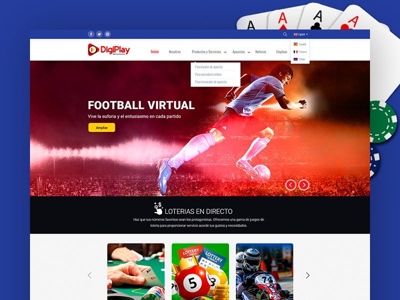 Digiplay Website Design dominican republic play ui design clean web
