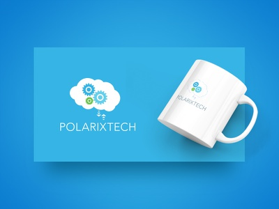 Polarixtech Logo Design dominican republic brain of clouds design logo
