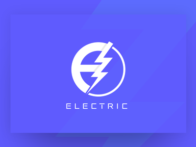 Electric Logo Design mark brand identity brand design type clean design logotype logodesign branding vector illustrator cc illustration typography logo design santo domingo clean dominican republic