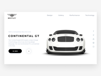 BENTLEY Website Concept ui web dominican republic santo domingo clean ui design design