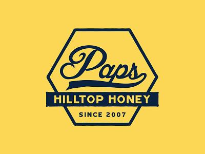 Paps Hilltop Honey Logo Rebrand packaging small business logomark hand lettering ohio kentucky louisville honey rebranding graphic designer typography branding logo identity