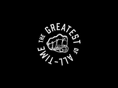 Muhammad Ali tshirt boxing tribute graphic logo badge ali