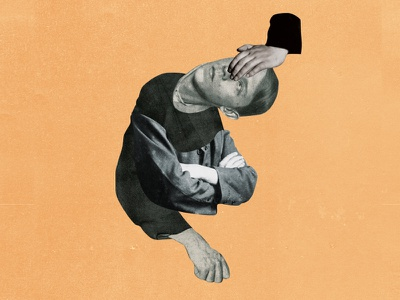 Captive Mind by Czesław Miłosz 2d handmade illustration ninai cover book fiction polish dada collage