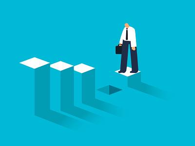 The Leader Gap cover book freitas ninai ui illustration stairs gap leadership