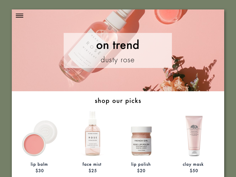 Beauty Blog Concept by Rosanna Volis