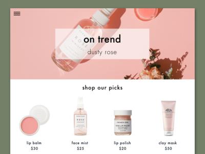 Beauty Blog Concept