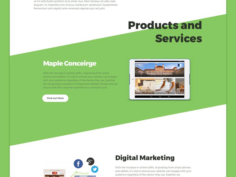 MapleGraph Web Redesign ux ui redesign web