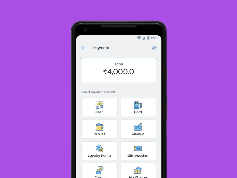POS Payment Screen branding ux ui checkout billing cart pos