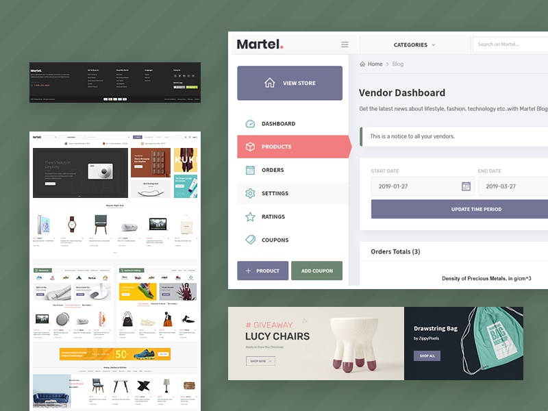 Martel - Multi Vendor Marketplace WordPress Theme wc dokan theme wc marketplace clean website website design trustworthy wordpress theme multi vendor theme themeforest admin dashboard vendor dashboard marketplace theme ebay like alibaba like woocommerce theme wordpress theme wc vendor