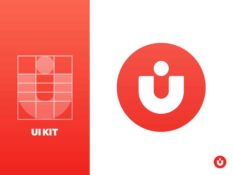 Ui Kit Logo process red ui kit logo