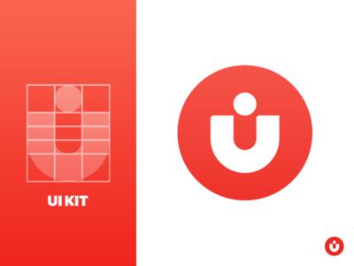 Ui Kit Logo process red ui kit logo