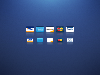 Credit Card Icons icons credit cards visa american express discover paypal checkout