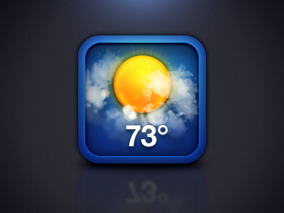 iOS Weather Icon ios icon weather blue icons sun clouds