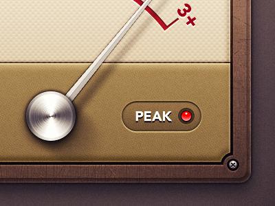 iOS Meter vu meter icon ios textures retina display