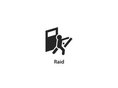 Raid pictogram icon raid palantir