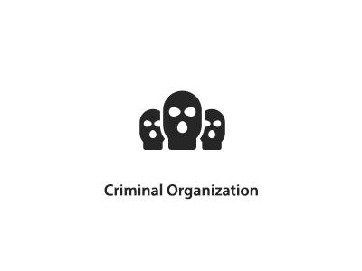 Bad Guys criminal organization pictogram palantir