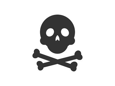 Ahoy  skull pictogram icon bones