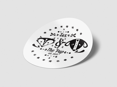 Fox & The Pup band sticker